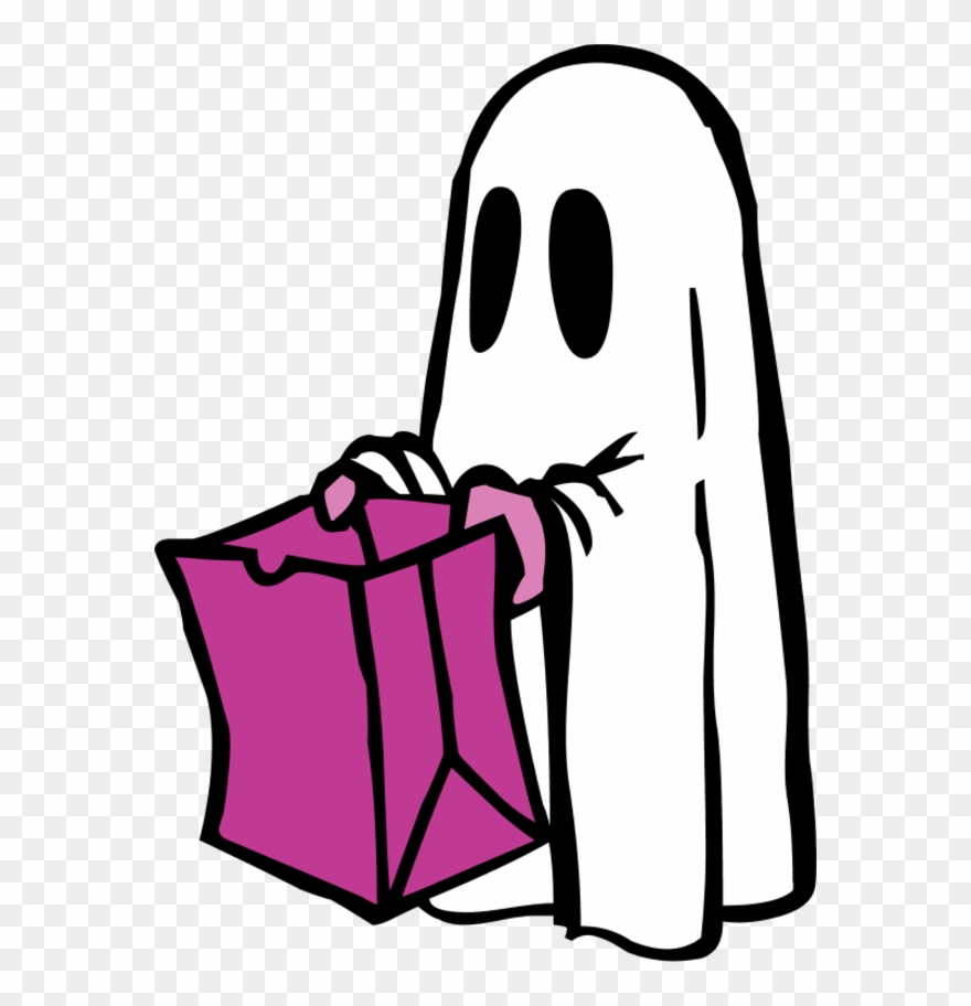 graphic regarding Please Take One Sign Printable identified as Ghost With Bag Coloration - You should Consider Just one Halloween Signal