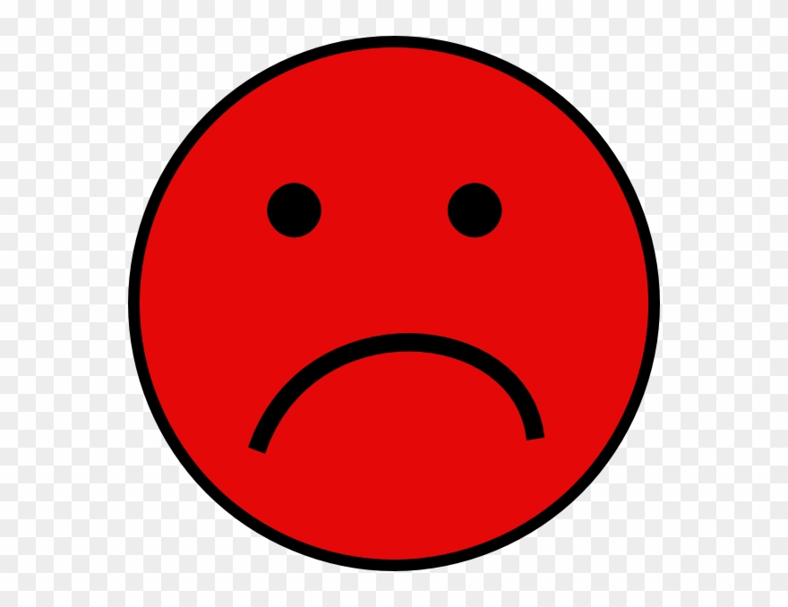 Red Sad Smiley Face Clipart (#109603) - PinClipart