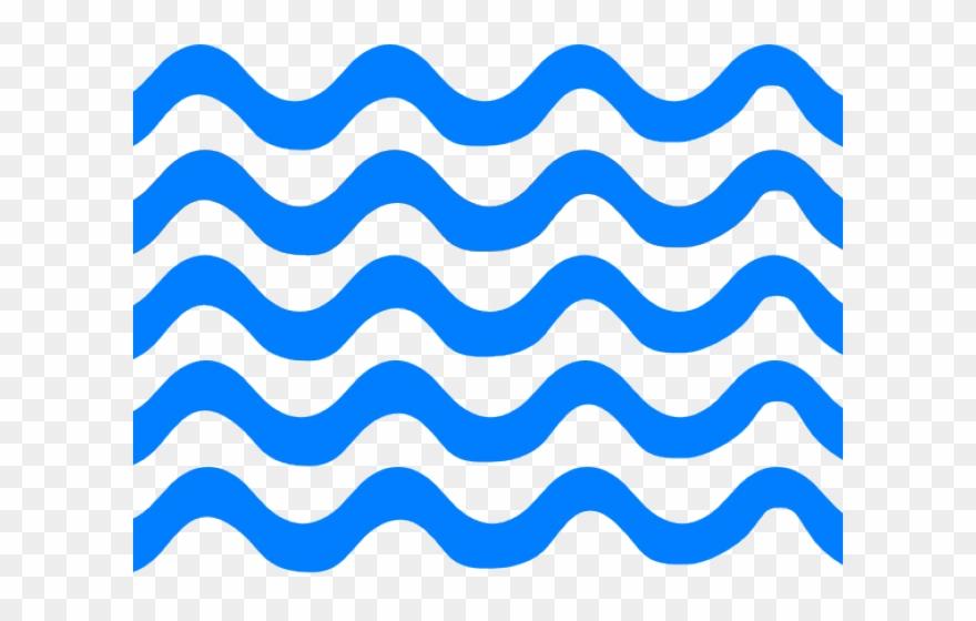 Waves blue. Lines clipart line png