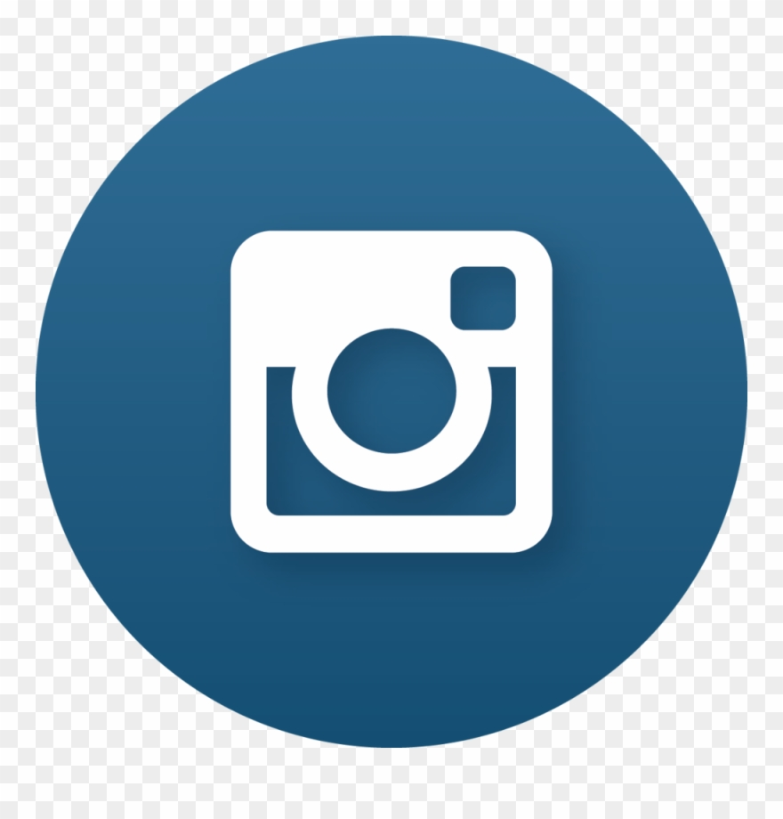 Instagram round. Connect blue logo clipart