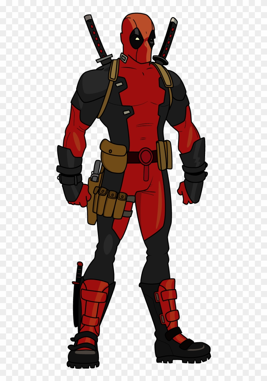 Clip freeuse stock action drawing deadpool deadpool full body drawing png download