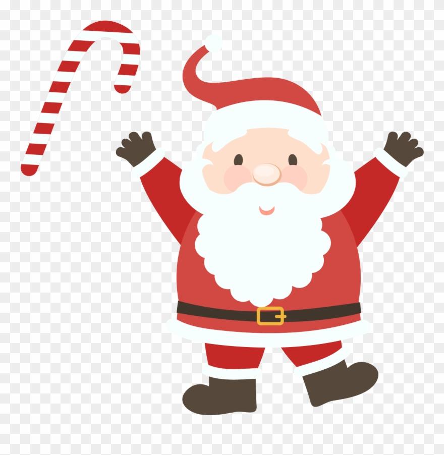 Santa Claus Clipart Png Image Png Papai Noel Com Rena Desenho