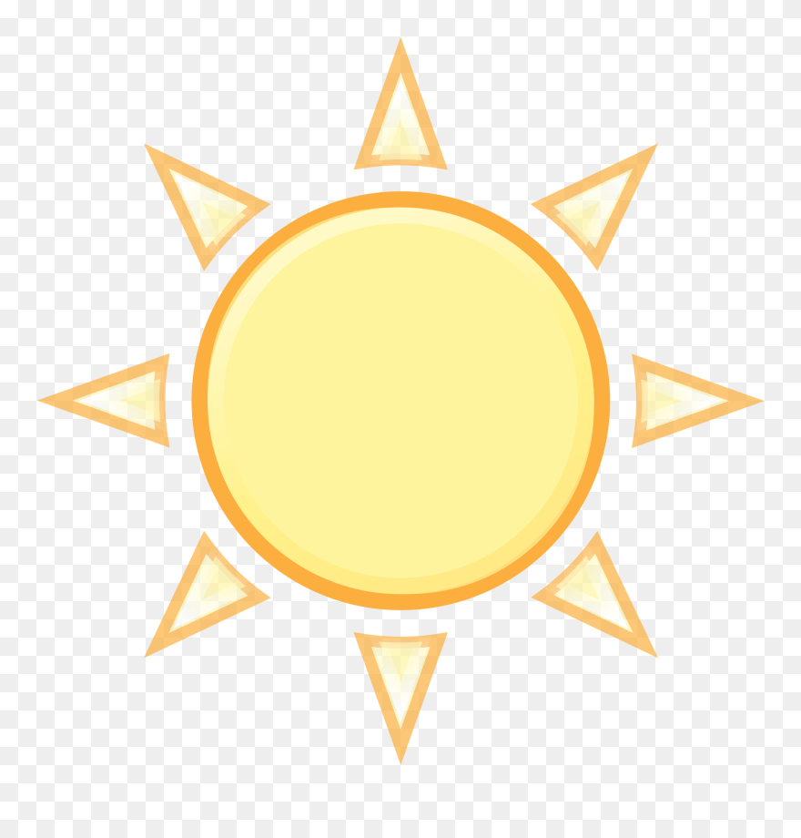Sun weather. M clear outline clipart