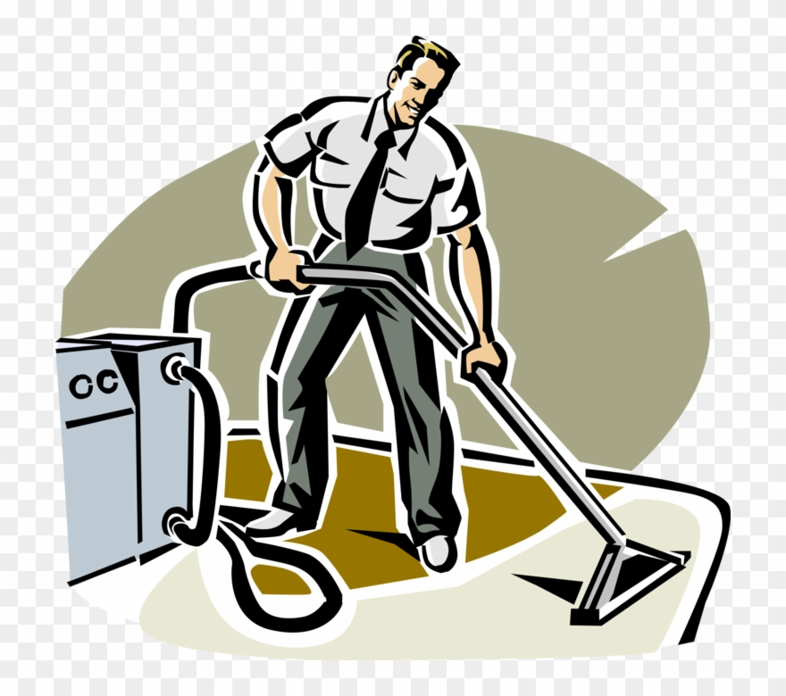 Vector Illustration Of Carpet Cleaner Uses Steam Cleaning Carpet Cleaning Person Clipart Full Size Clipart 1047036 Pinclipart