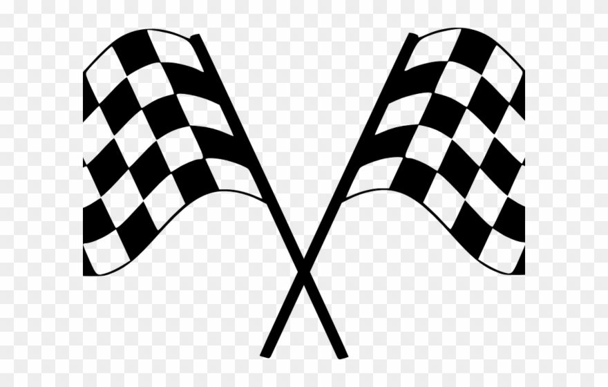 Finish Line Clipart Start To Finish - Checkered Flag - Png ...