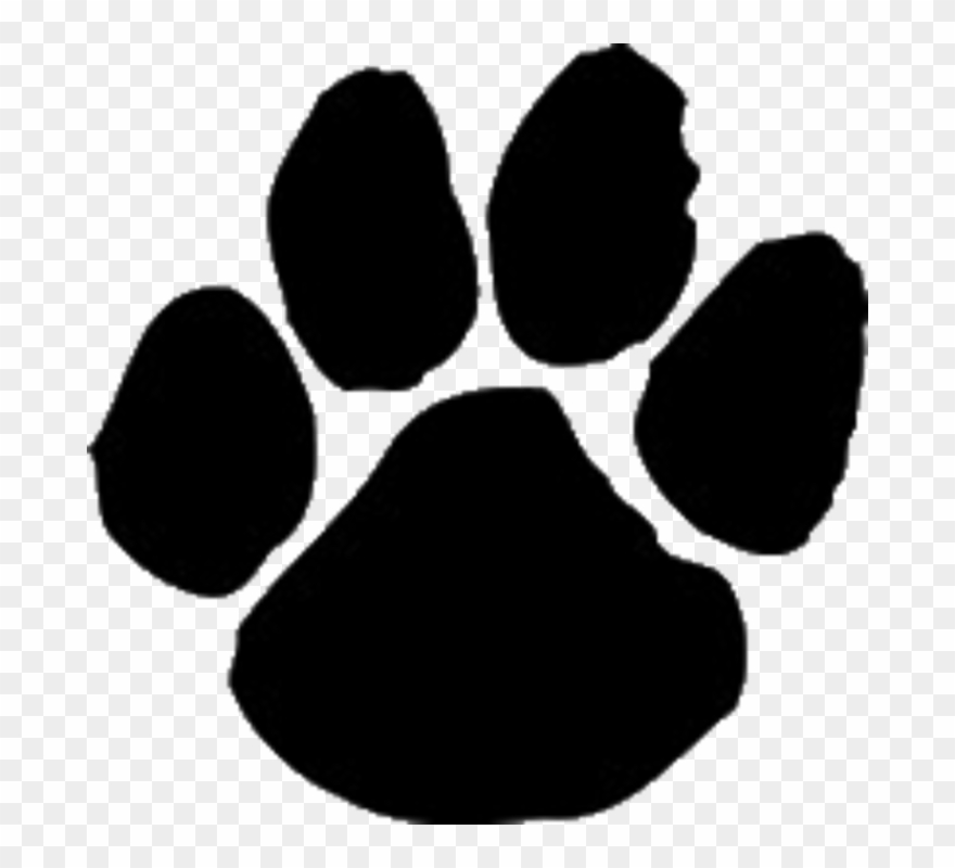 tiger paw print clipart - png download (#1054864) - pinclipart  pinclipart.