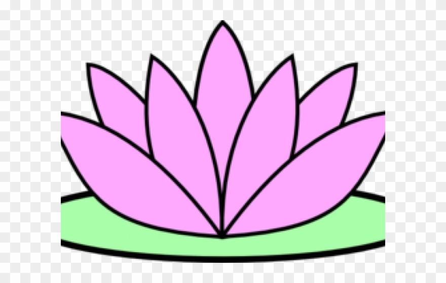 Lotus Clipart Lotus Flower Easy Drawing Png Download 1055384