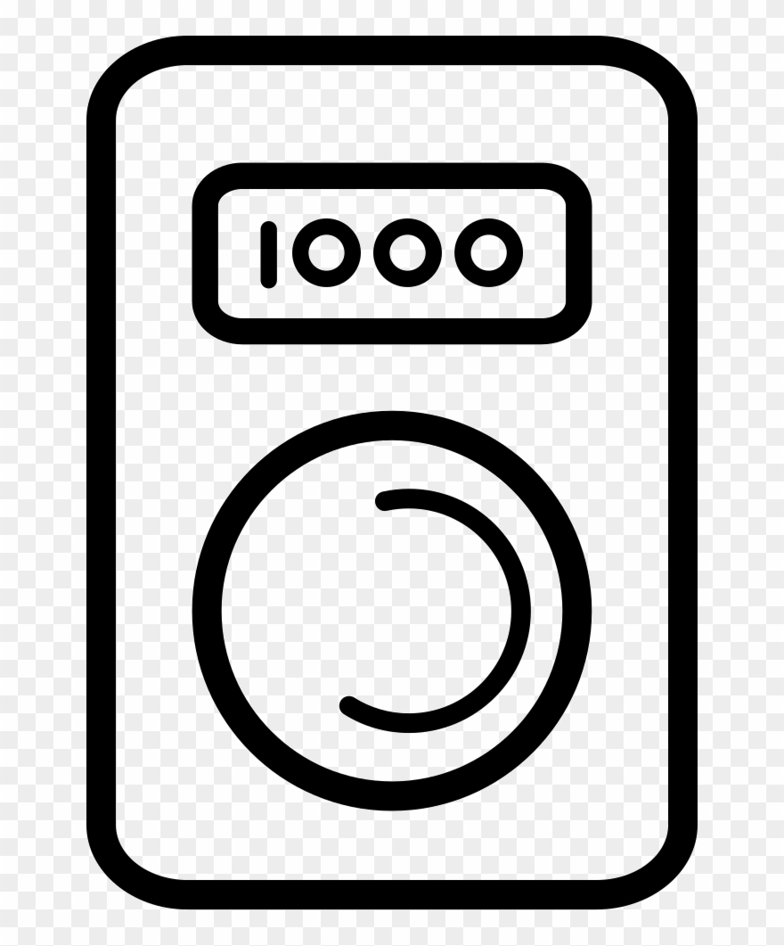 Washing Machine Outline Comments - Circle Clipart