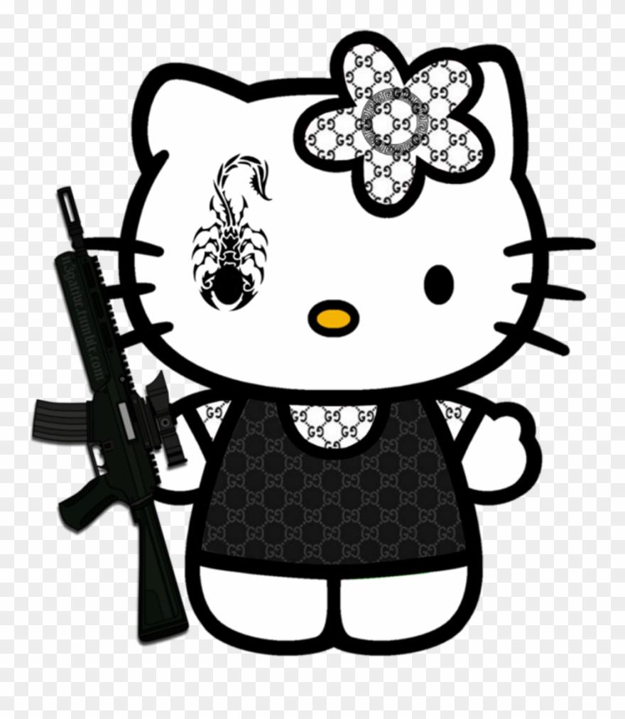 Hellokitty Gucci Ak47 Kidcore Cute Scorpion Hello Kitty