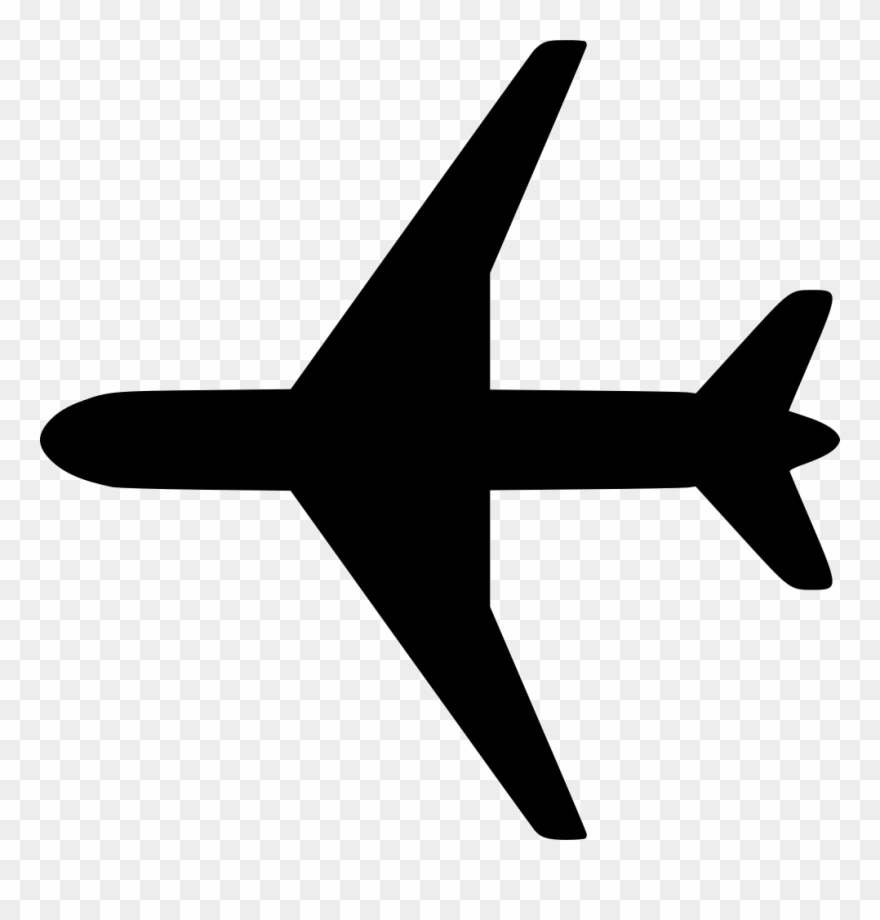 white airplane icon transparent