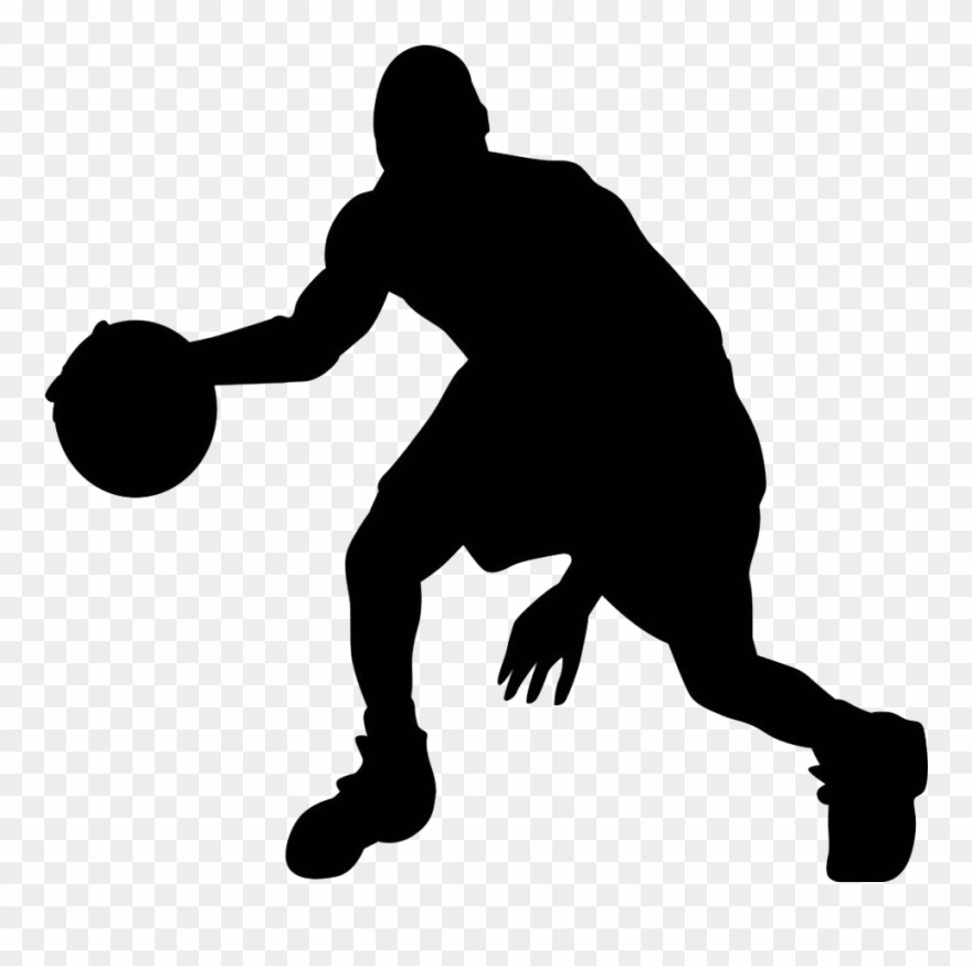 Playa4 Silhouette Basketball Transparent Background Clipart 1062069 Pinclipart