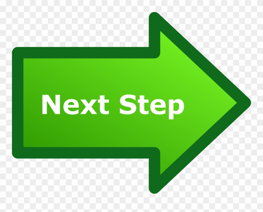 Next Step Arrow - Next Steps Icon Transparent Clipart (#1065258 ...