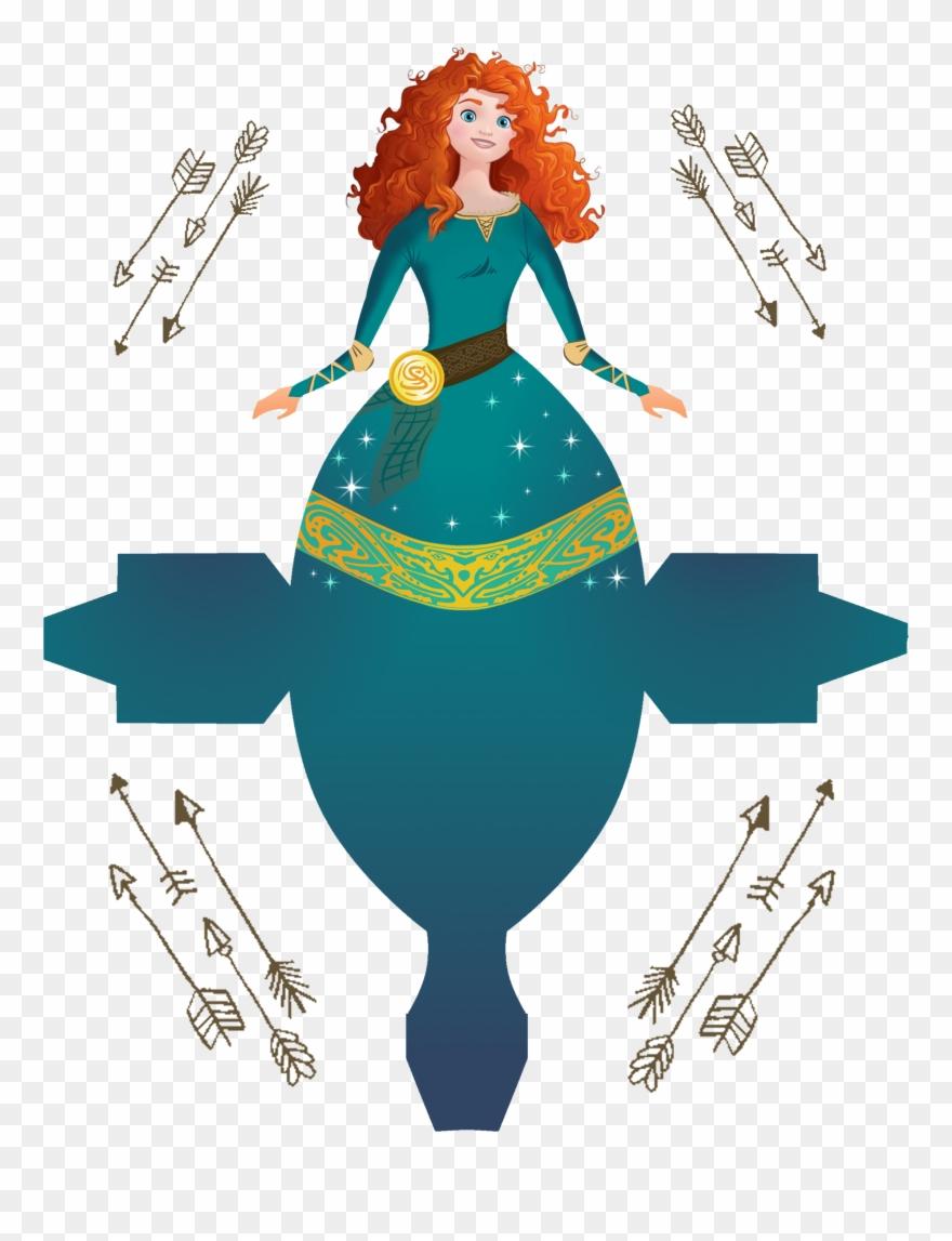 bf5ca8a577 Dress Clipart Merida - Disney Princess Box Free Printable - Png Download