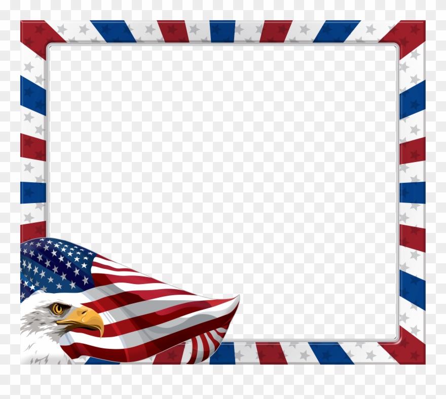 Usa flag eagle. American transparent png frame