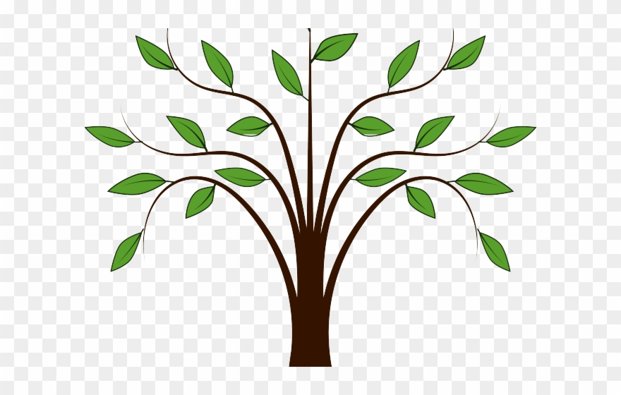 Animated tree. Roots clipart simple clip