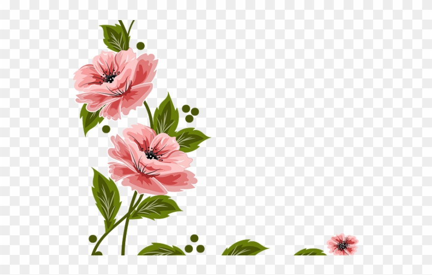 Vintage Flower Clipart Flower Painting Flower In Png File