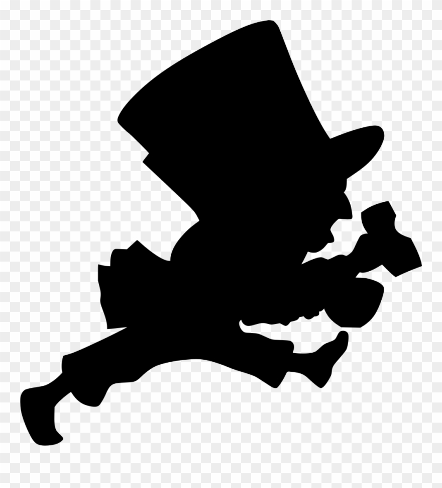 Info Mad Hatter Silhouette Clipart 1083919 Pinclipart