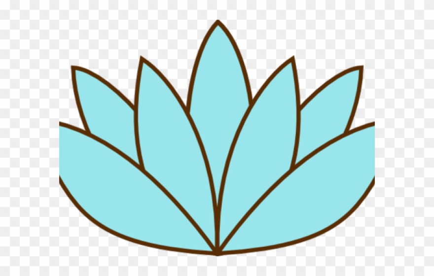 Lily Pad Clipart Sketches Lotus Flower Easy Drawing Png Download