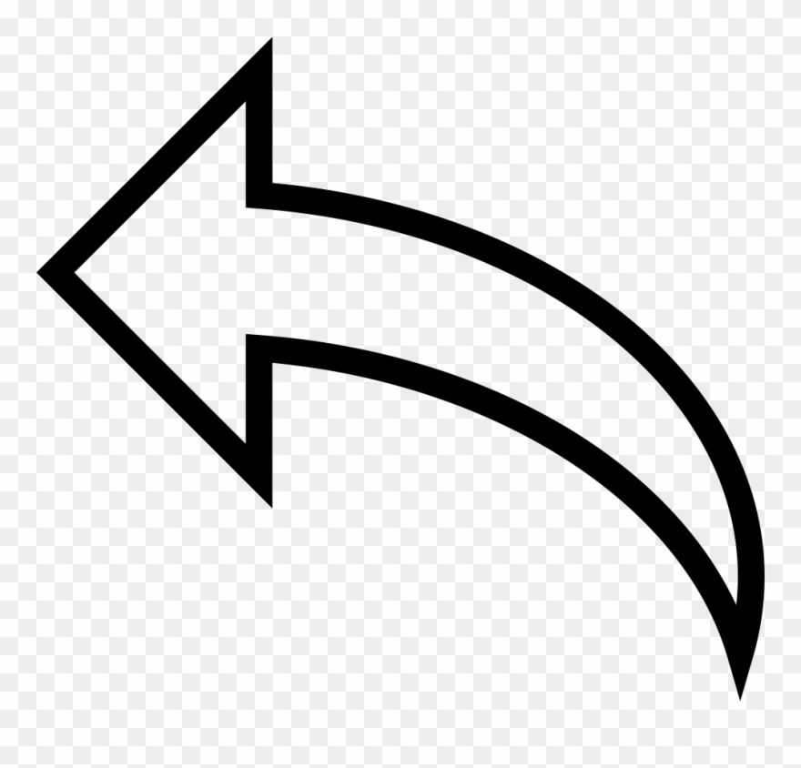 Curved Arrows Curved White Arrow Png Clipart 1085428 Pinclipart