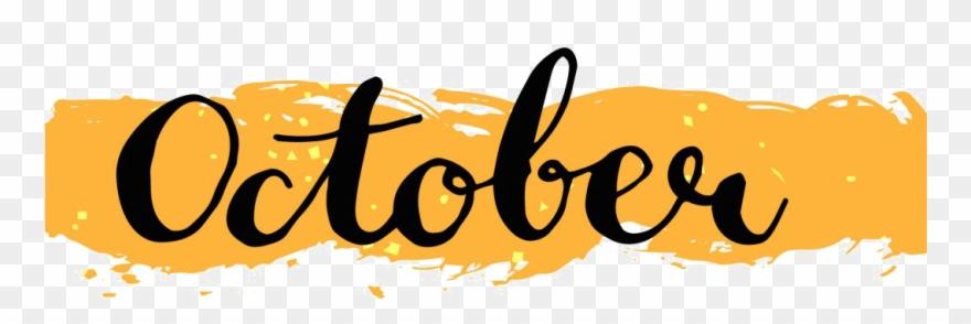 October Events - October Png Transparent Clipart (#1089064) - PinClipart