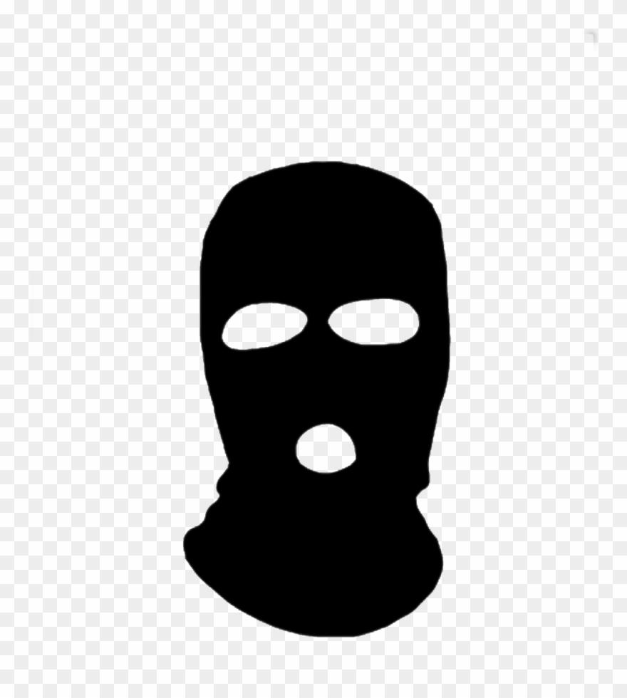 Black Ski Mask Cartoon Clipart (#1093792) - PinClipart