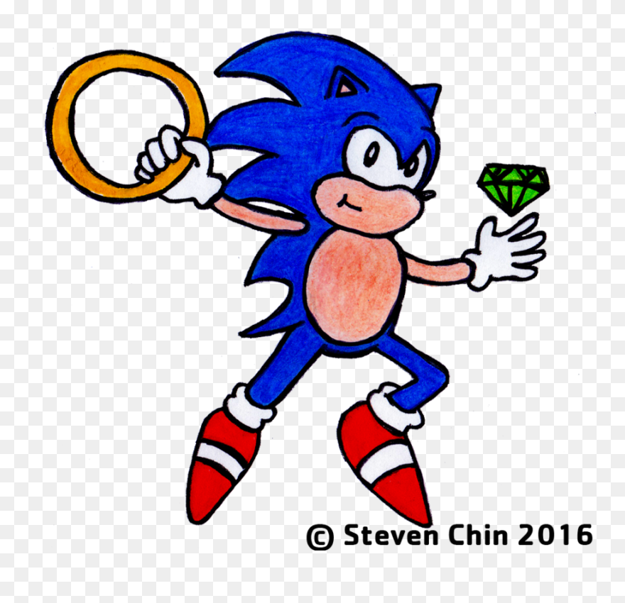 Sonic The Hedgehog Chaos Emerald And By Chaos Emeralds Clipart 1095196 Pinclipart