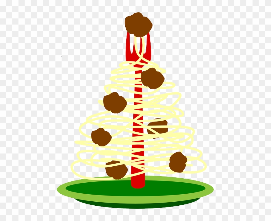 Christmas Holiday Clipart.Food Plate Spaghetti Tree Christmas Holiday Fork