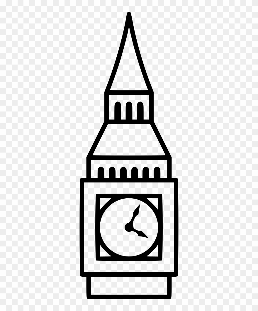 Png File Black And White Big Ben Icon Clipart 1098775