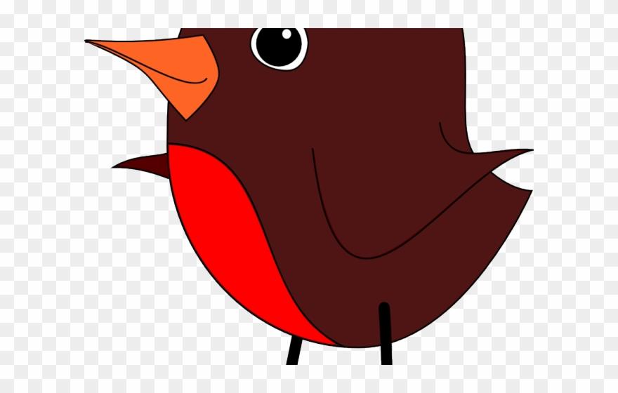 Bird robin. Clipart black and white