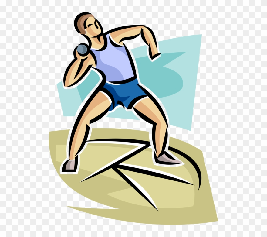 Track Meet Competitor Throws Shot Put Athletics Track Shot Put