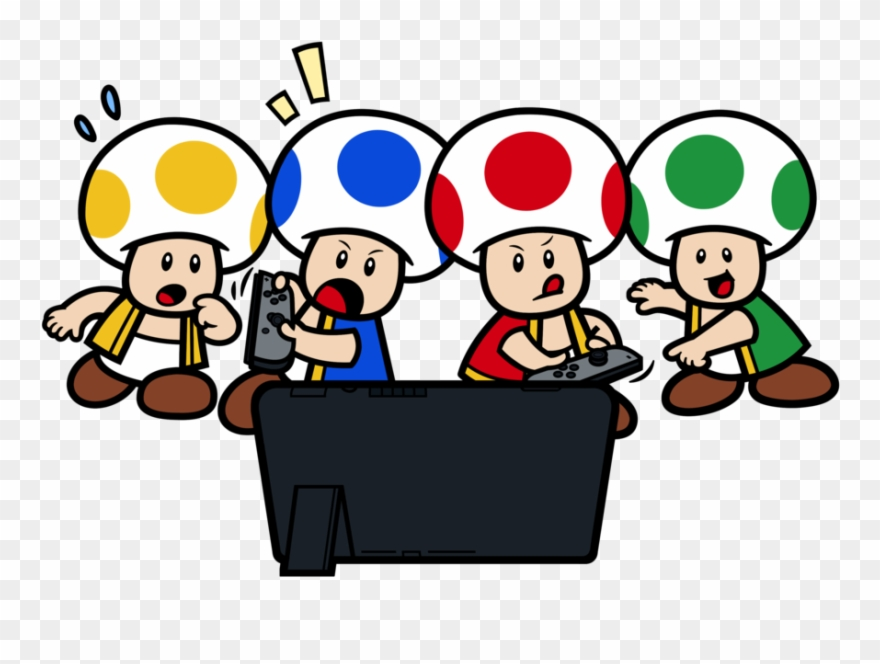 Mario Bros Clipart Supper Mario Playing Nintendo Switch Png Download 115183 Pinclipart