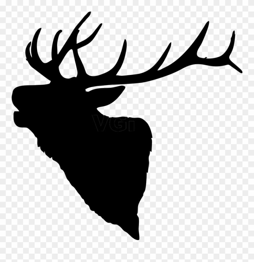 Deer head elk. Graphic library bull clipart
