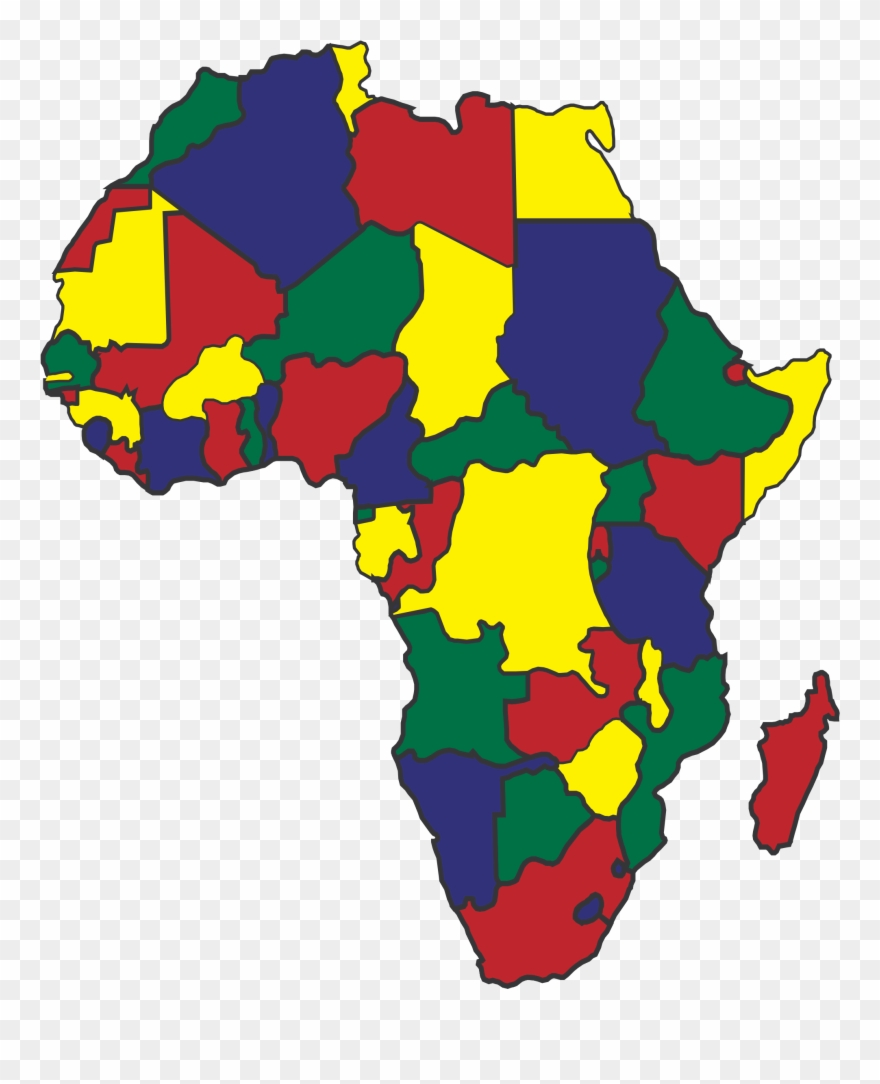 Image Royalty Free Africa Map Clipart   Spanish Speaking Countries