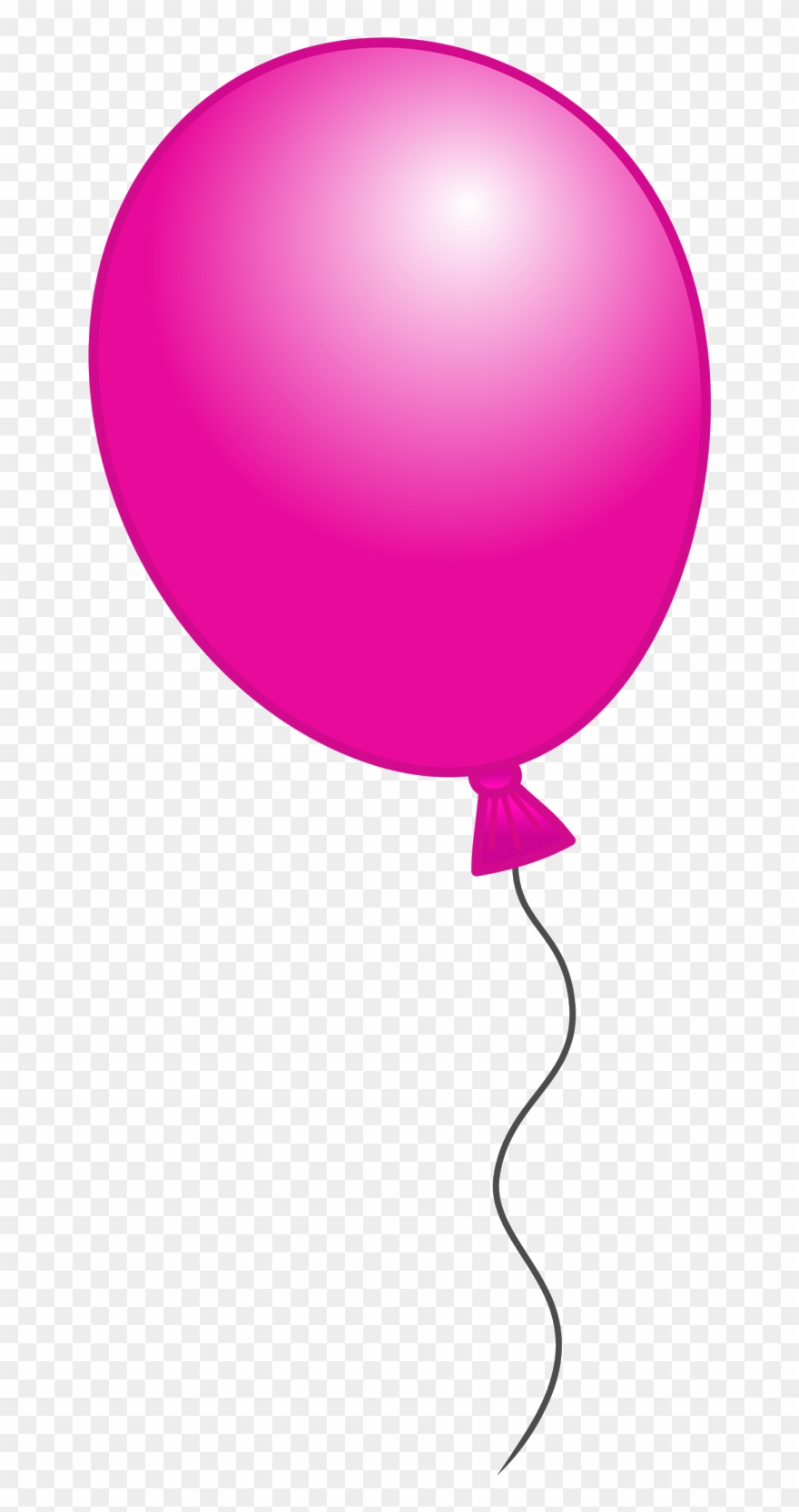 Balloon pink. Free clip art with