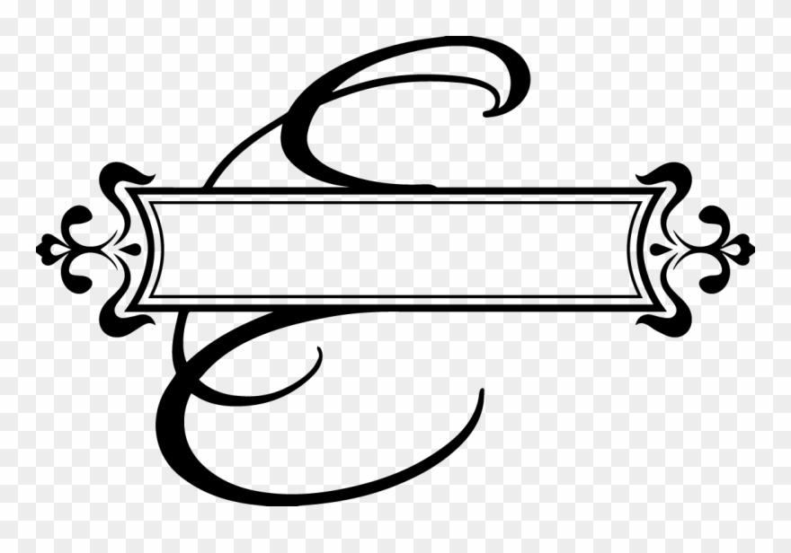 5e3e8cc27dd Fancy Letter E Images - Split Monogram Letter H Clipart ( 119866 ...
