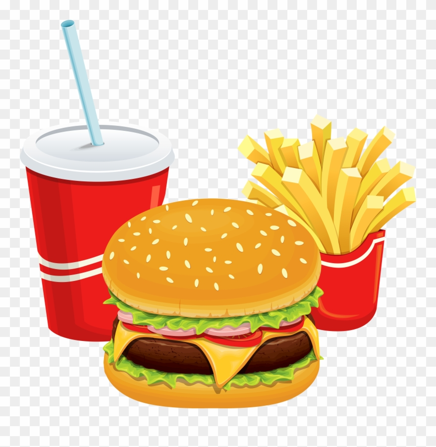 Man Cliparthot Of Restaurant - Burger And Fries Transparent - Png Download