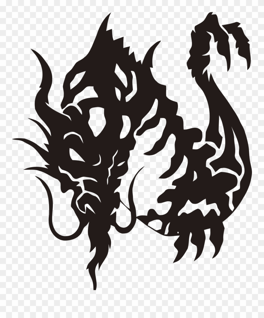 31a02cbe1 Clipart Tribal Dragon - Tattoo Dragon Tribal Fille - Png Download ...