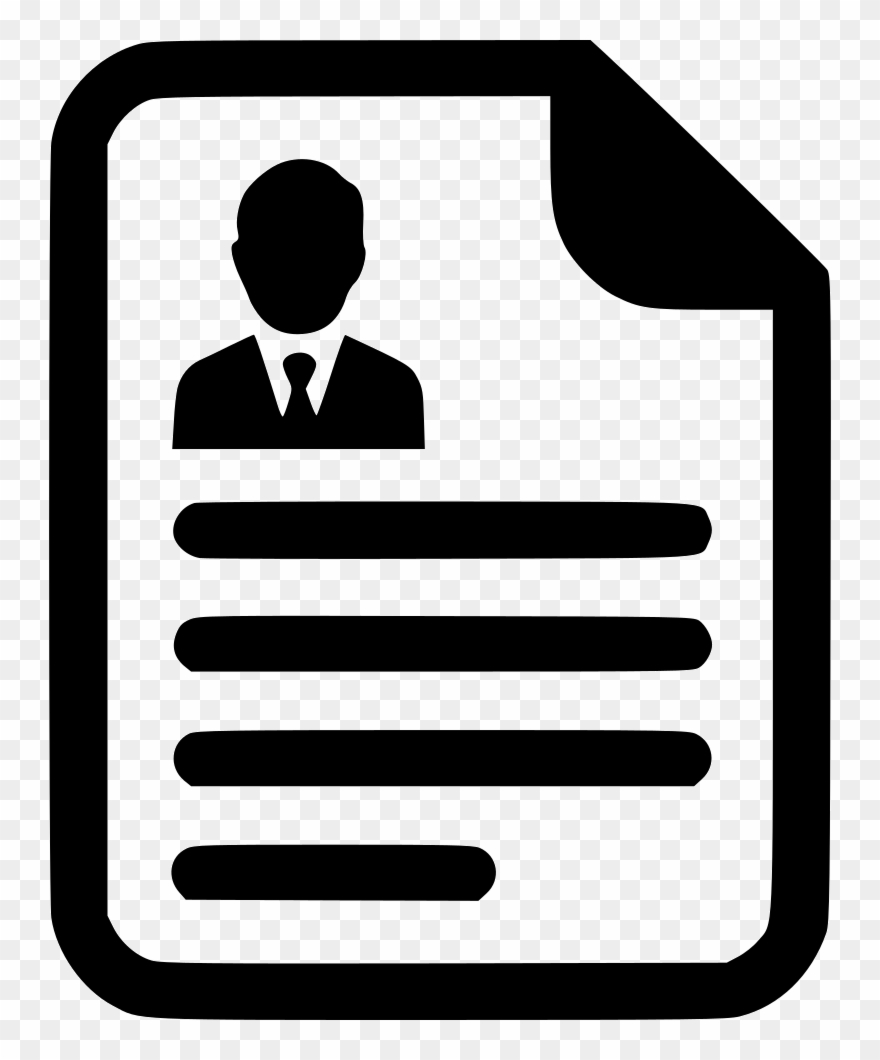 Treaty Clipart Transparent Resume Icon Transparent Png