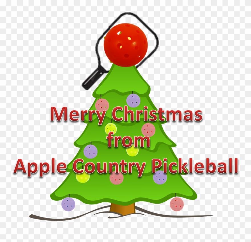 Merry Pickleball Christmas - Plain Christmas Tree Clipart ...