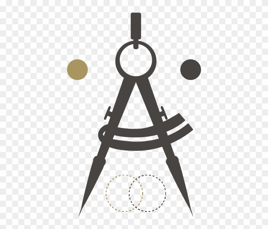 Compass drawing. Logo design services tool