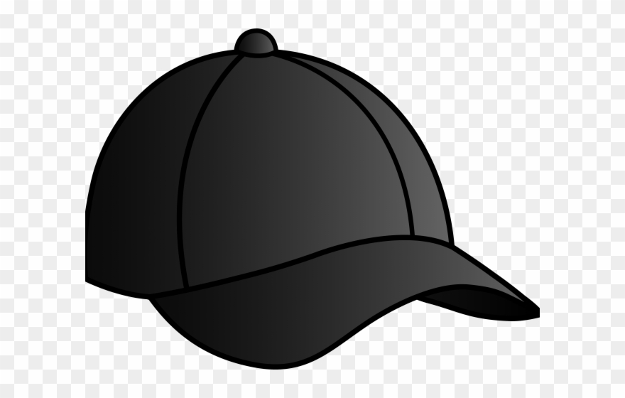 30888613076 Nike Clipart Cap - Black Baseball Cap Cartoon - Png Download ...