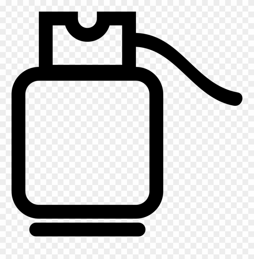 Cylinder Outline Svg Png Icon Free Download - Gas Cylinder Icon Png Clipart