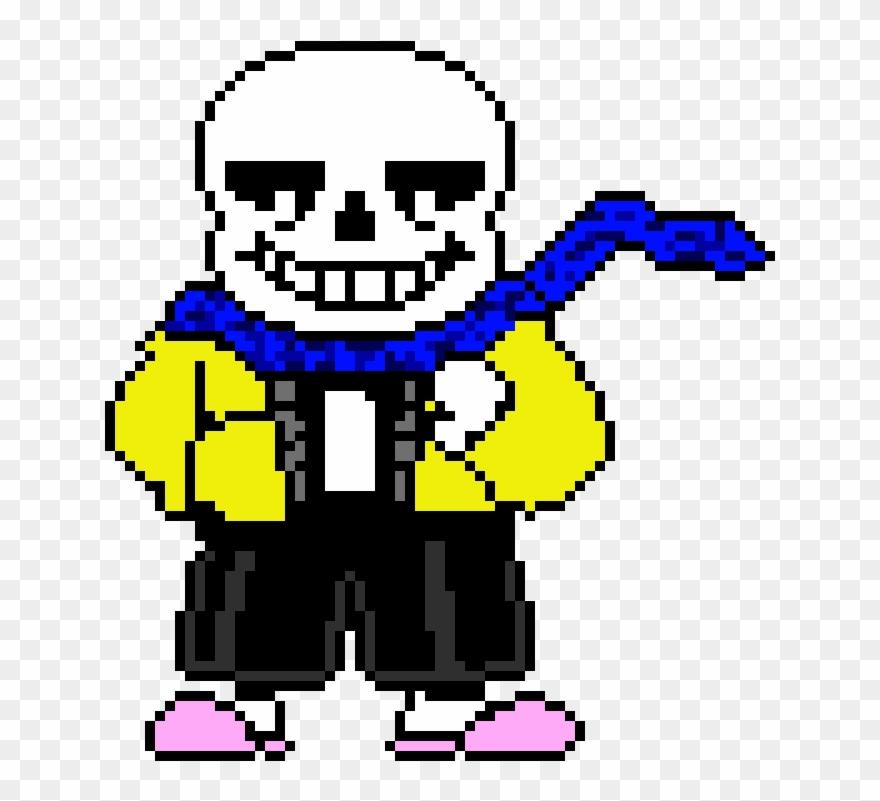 Skeleton Dress Up Pixel Art Sans Undertale Clipart 1123655