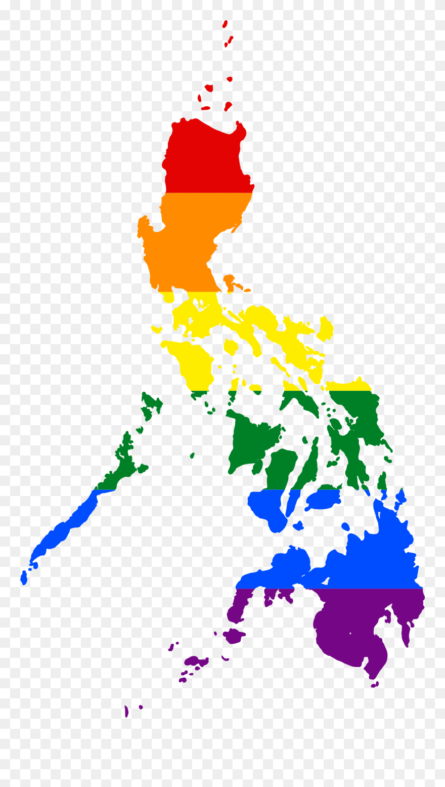 Philippine Map Clipart File Lgbt Flag Of   Lgbt Map Of The Philippines Clipart (#1133235