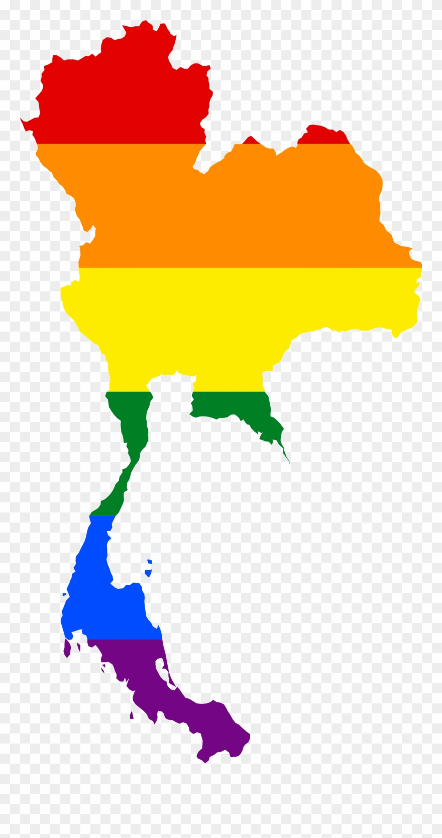 Transparent Lgbt Vector Jpg Transparent Download Thailand Map