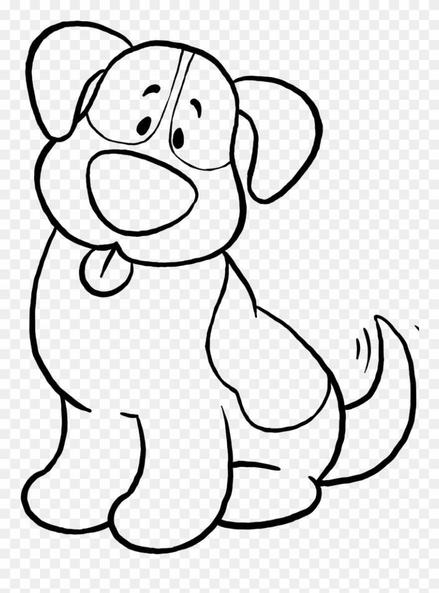 Cute Dog Coloring Pages Simple Dog Coloring Sheet Clipart