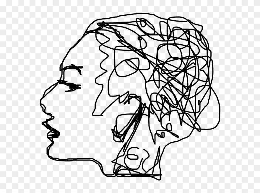 Mental Health Line Art Clipart 1145954