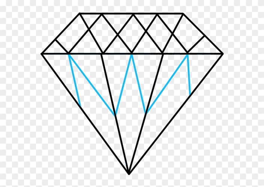 Diamond outline. How to draw clipart