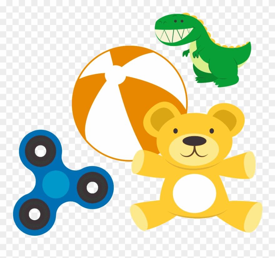 Clip arts fidget spinner. A cartoon blue yellow