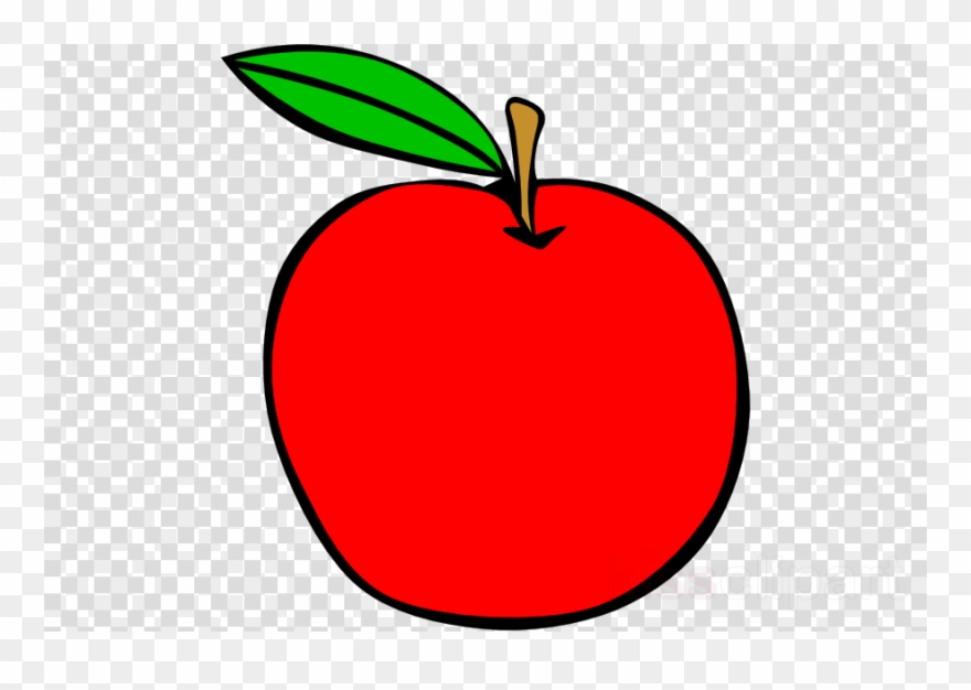 Apple clear background. Red clipart clip art